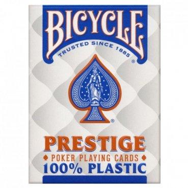 Karty Bicycle PRESTIGE 100% plastové modré