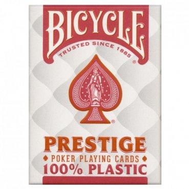 Karty Bicycle PRESTIGE 100% plastové červené