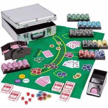 Ultimate Pokerset Casino 600 + darček miešačka kariet