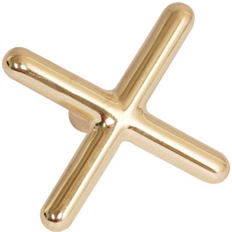 Luxusná mosadzná podpera na tágo v tvare kríža
