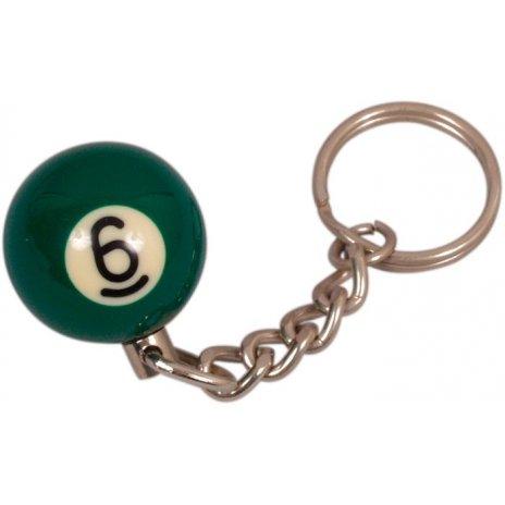 Prívesok biliardová guľa č. 6