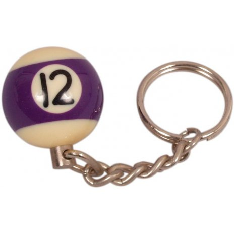 Prívesok biliardová guľa č. 12