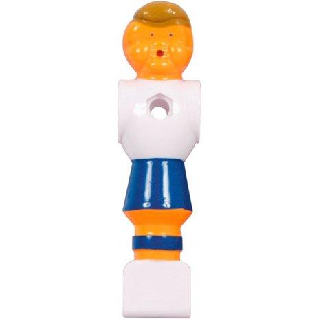 Modro biely hráč na stolný futbal 16mm