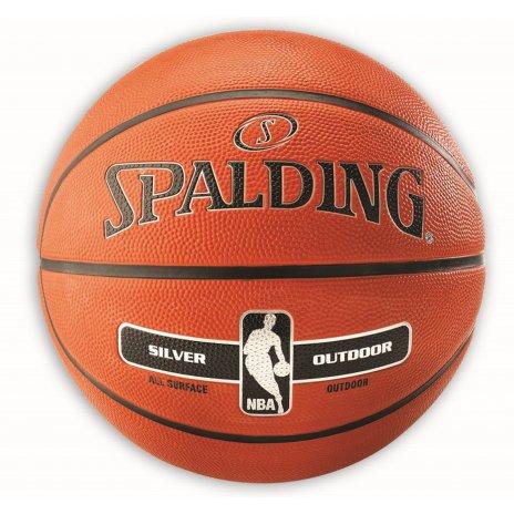 Basketbalová lopta Spalding NBA Outdoor Silver veľkosť 5