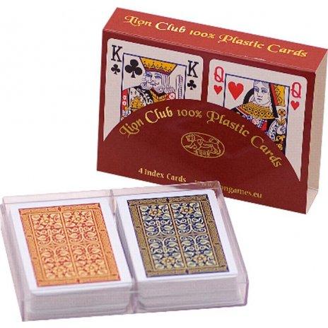 Plastové pokrové karty LION 100% double 2 sady