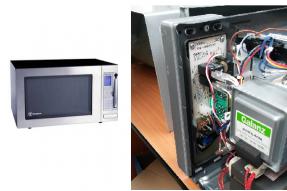 Mikrowellenherd mit installierter Abhörung Das Abhörgerät wird direkt aus dem Mikrowellenherd eingespeist, und eignet sich so für ununterbrochene und langfristige Abhörung.