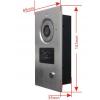 Kovový videozvonek Secutek CAM205A s RFID čtečkou