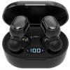 Безжични слушалки E6S с Bluetooth 5.0 и калъф за зареждане - бял