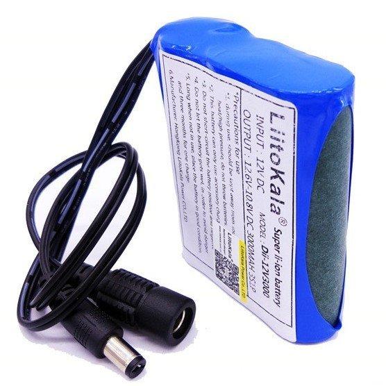 12V 3000mAh dobíjecí lithiová baterie