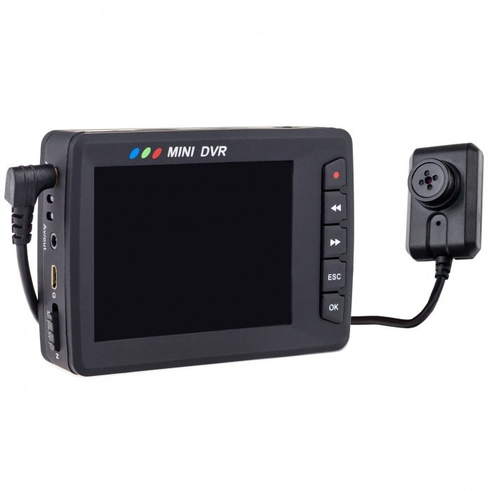 Angel Eye - Knopfkamera mit DVR und LCD Display