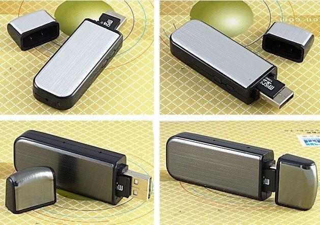 Flash disk s HD kamerou a IR přisvícením
