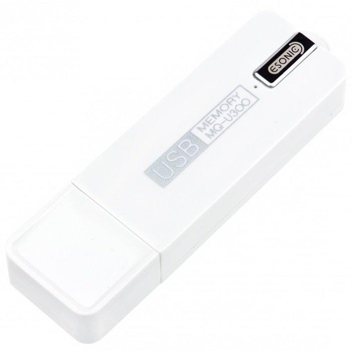 Diktafon Esonic MQ-U300 ve flash disku - bílý