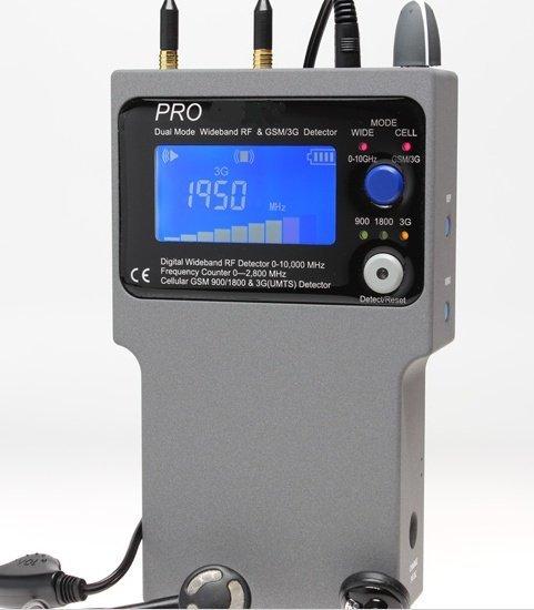 2- módový širokopásmový / 3G-GSM detektor