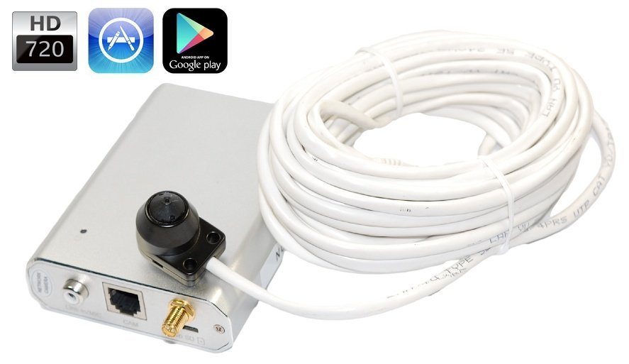 HD Inteligentní IP server - WiFI, P2P, PoE + minikamera