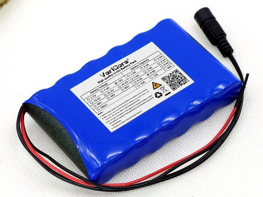 12V 6800mAh tölthető lítium elem