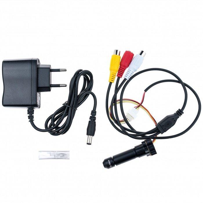 Mini CCTV kamera s teleobjektívom - 15°; 0,008 LUX; 520TVL