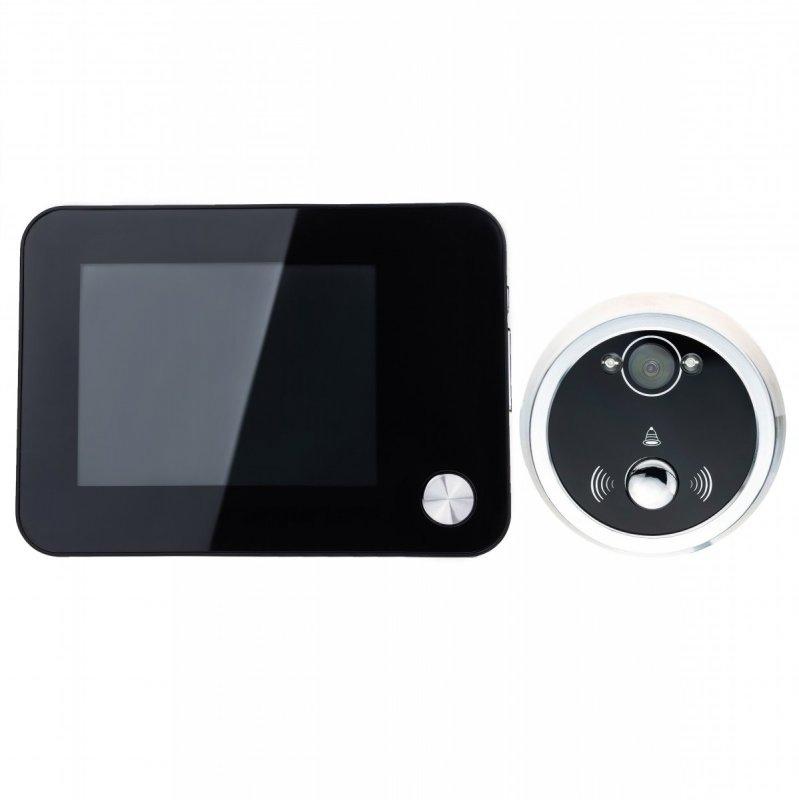 """Winkoo Digitální dveřní kukátko se zvonkem - 3,5"""" LCD, IR"""