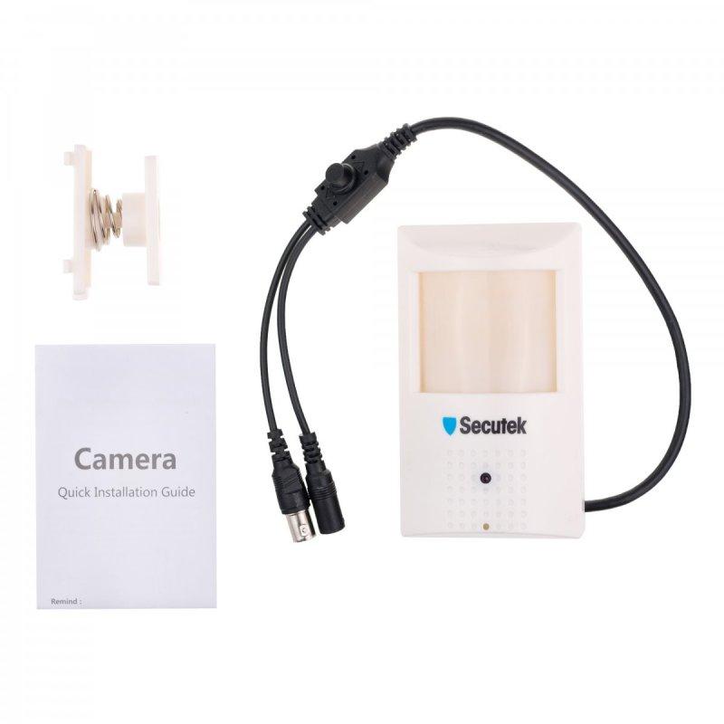 Kamera analogowa ukryta w czujniku PIR - CCD; 0,01 LUX