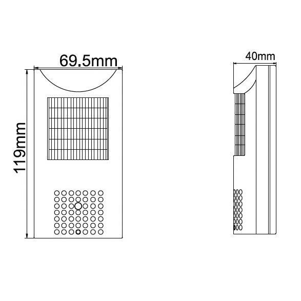 Skrytá analógová kamera v PIR čidle - CCD; 0,01 LUX
