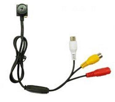 CCTV Miniknopfkamera – 600TVL, 0,5 LUX, 60° pinhole