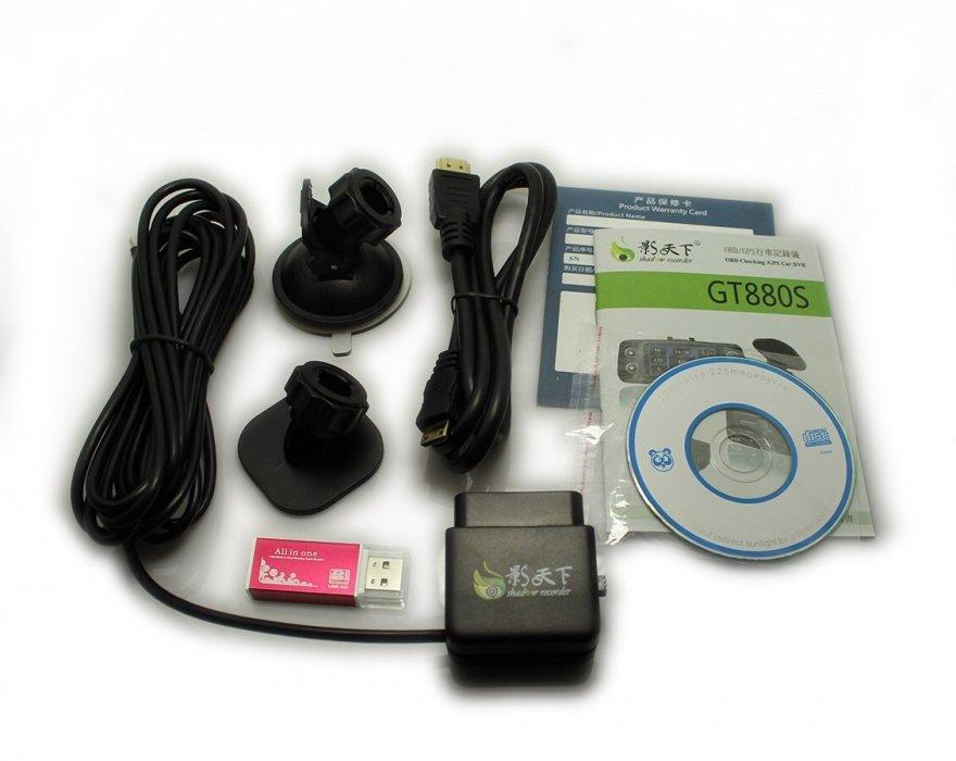 FULL HD kamera do auta s GPS a OBD konektorem, 32GB karta součástí balení