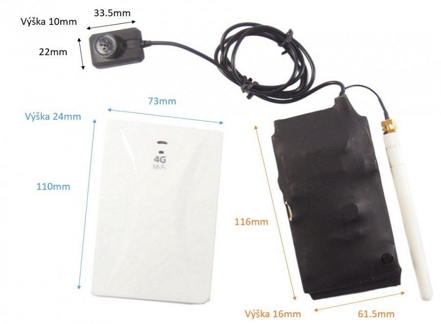 Secutron 4G gombos kamera + mikrofülhallgató