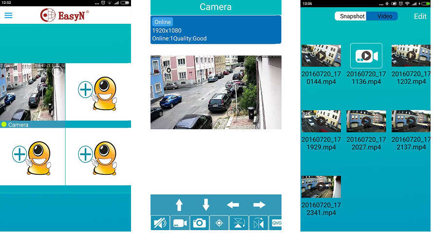 WiFi IP kamera Easyn A109 - FHD, PTZ, IR 30m, 5x zoom