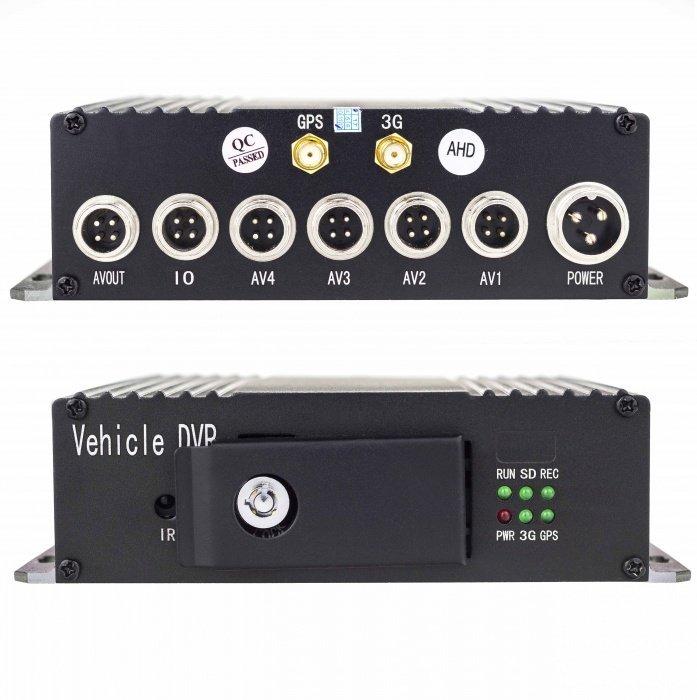 4CH AHD DVR do auta, GPS, 4G, H.265