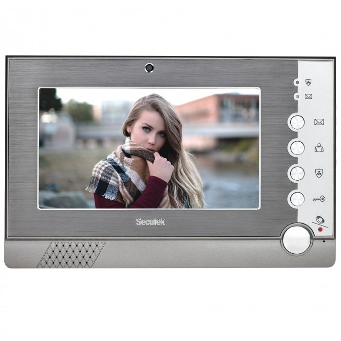 """Secutek VDP322 - wewnętrzna jednostka wideodomofonu z 7"""" LCD i czujnikiem ruchu"""