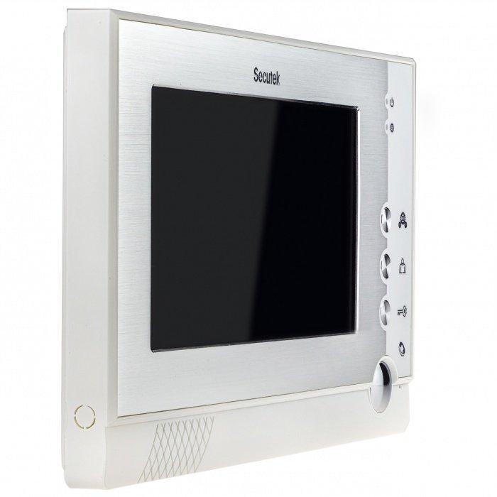 """7"""" vnitřní 4-vodičová jednotka pro videozvonky - Secutek VDP313"""