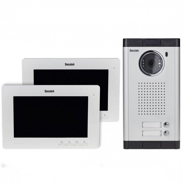 """Videozvonek Secutek VDP316+CAM211-2 - 2x7"""" LCD; noční vidění"""
