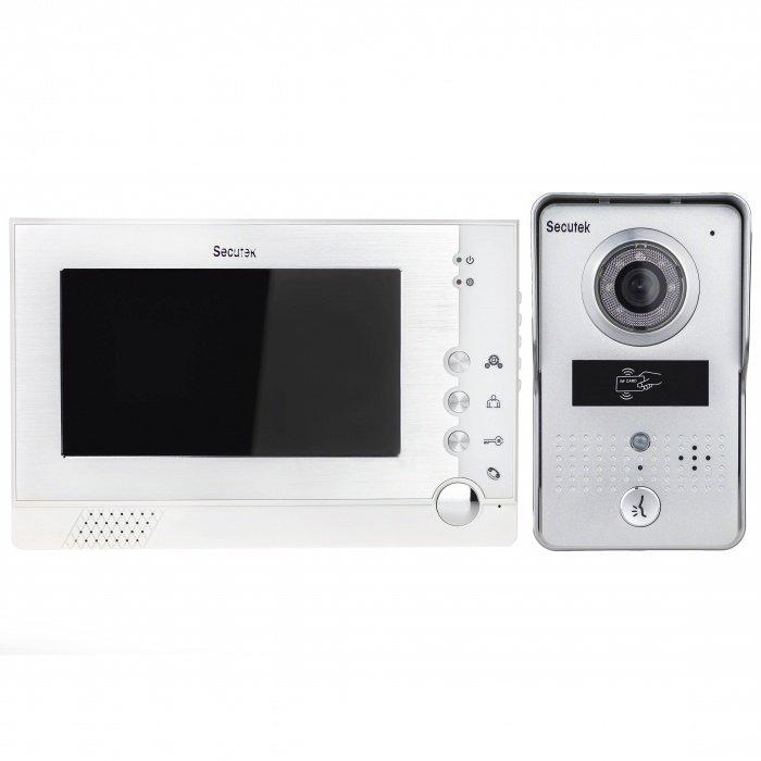 """Videozvonek Secutek VDP313+CAM215A - 7"""" LCD; RFID, noční vidění"""