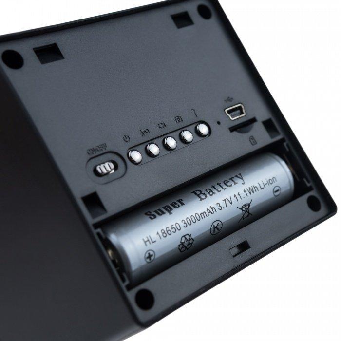 Digitální hodiny se skrytou Full HD kamerou, IR Secutek SAH-TC029