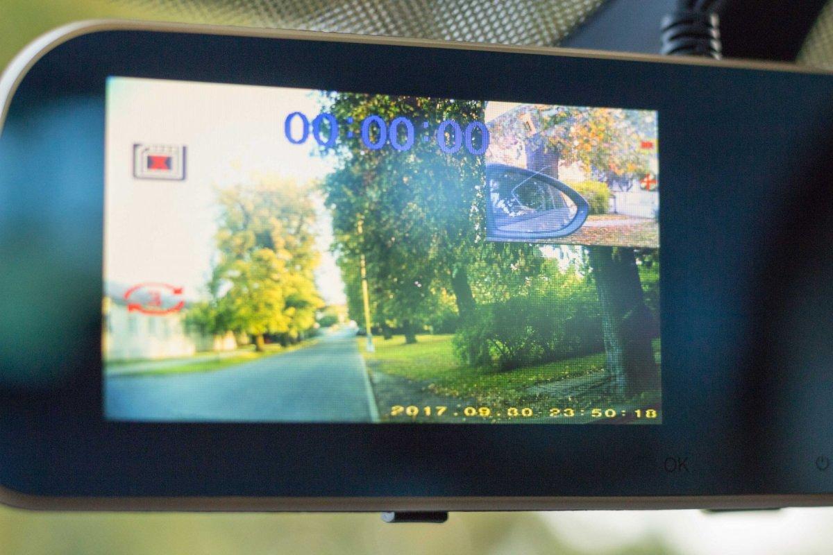 3CH kamera v spätnom zrkadle Secutek C4MA
