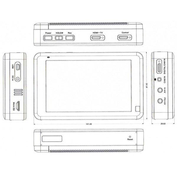 LawMate PV-1000Touch - Professzionális videó rögzítő, 500GB