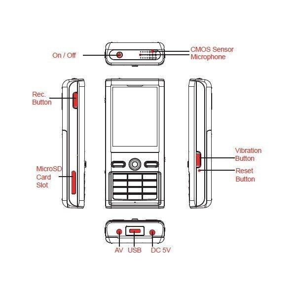 Lawmate PV-900HD - DVR lefonban akár külső kamera csatlakoztatásával