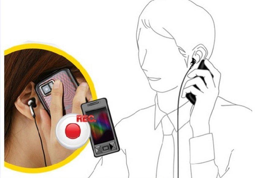Adapter a mobiltelefonhívások rögzítéséhez