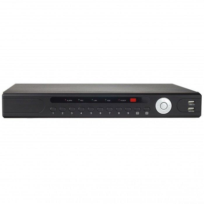 AHD DVR rekordér pro analogové kamery - 4CH, 2x4TB HDD, 720P