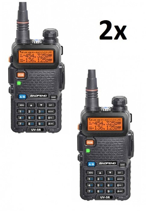 Kostengünstiges Set 2x Baofeng UV-5R