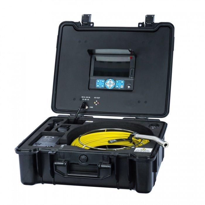 Professzionális endoszkóp kamera (hosszú) + bőrönd képernyővel