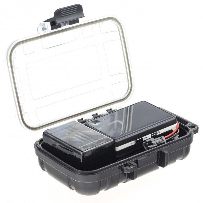 GPS lokátor EXCLUSIVE + ext. baterie pro až 60 dní provozu + vodotěsná krabička