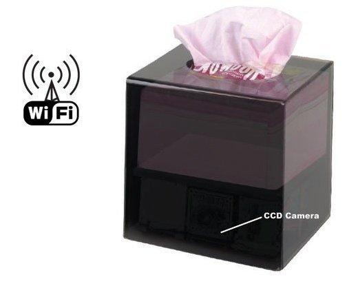 Kapesníčky se skrytou IP kamerou, WiFi