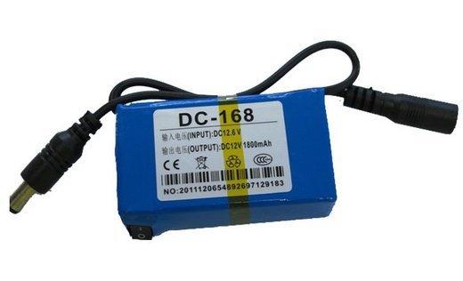 12V 1800mAh dobíjecí lithiová baterie