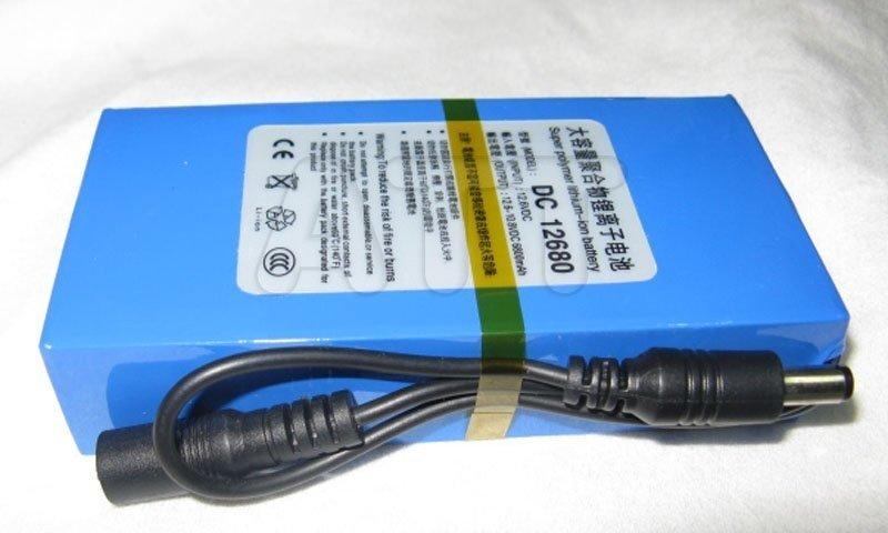 12V 6500mAh dobíjecí lithiová baterie