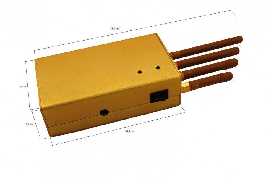 Přenosná rušička signálu - GPS/GSM/3G, 3W