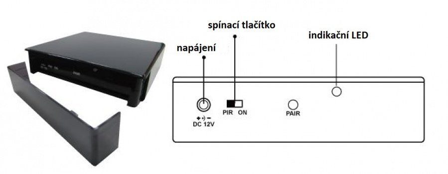 Bezdrátová kamera v podstavci
