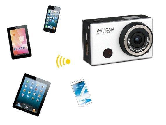 Sportovní kamera FULL HD, WiFi (GoPro styl)