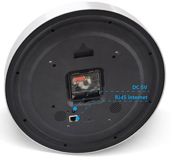 WiFi IP kamera v nástěnných hodinách