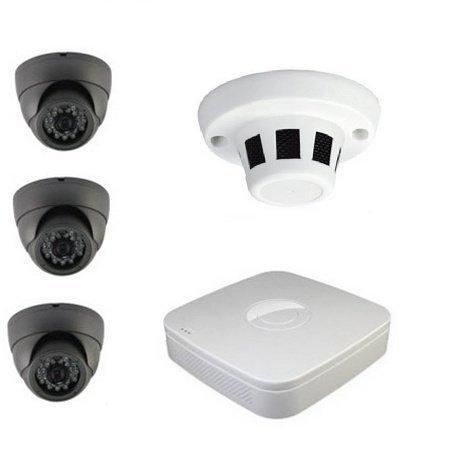 3+1 kamerový set (3x dome + 1x skrytá kamera) + DVR - 800TVL