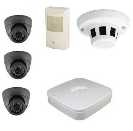 2+2 kamerový set (2x dome + 2x skrytá kamera) + DVR - 800TVL
